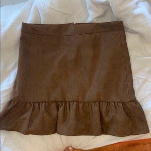J Crew suede brown skirt
